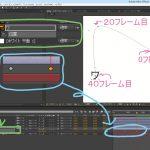 【アフターエフェクト】アニメーションの作り方、キーフレームを追加し再生をする。