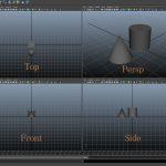 【MAYA】基本操作、画面内の移動やズーム、回転の方法や画面分割についてです。